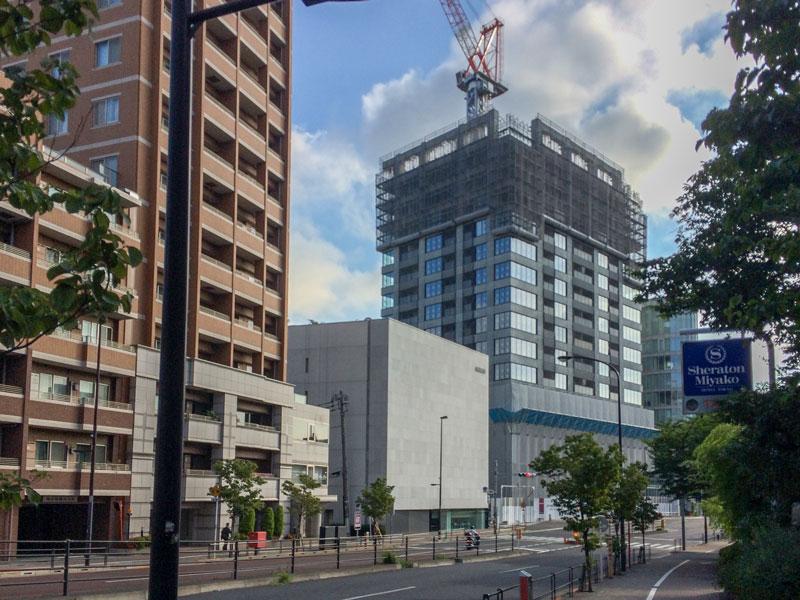 ザ・パークハウス 白金二丁目タワー、2017年7月31日の様子