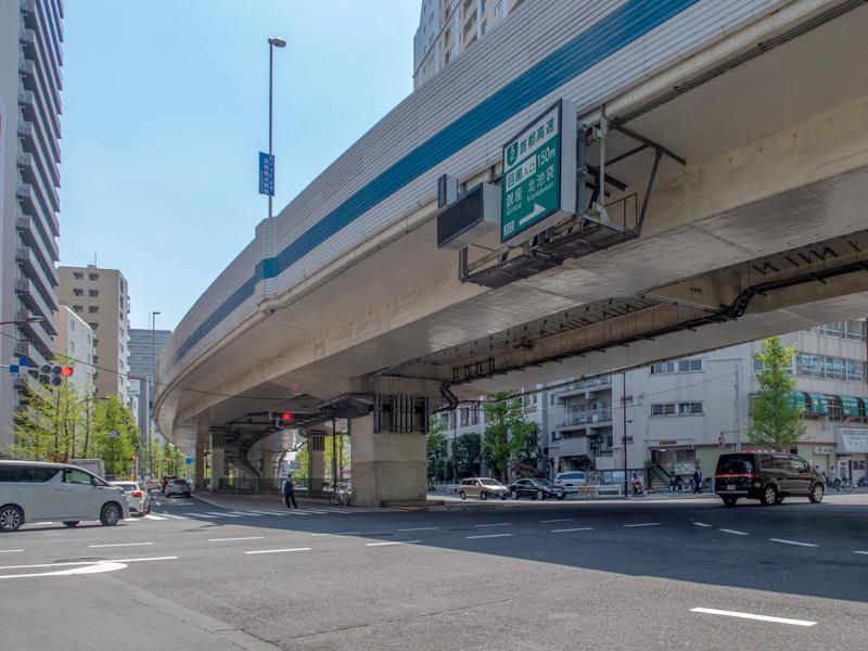 上大崎の交差点