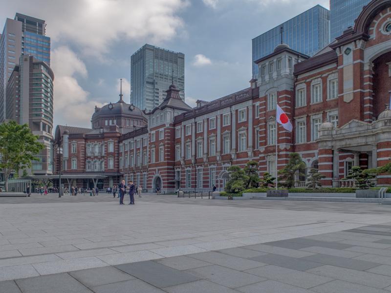 東京駅丸ノ内口の風景