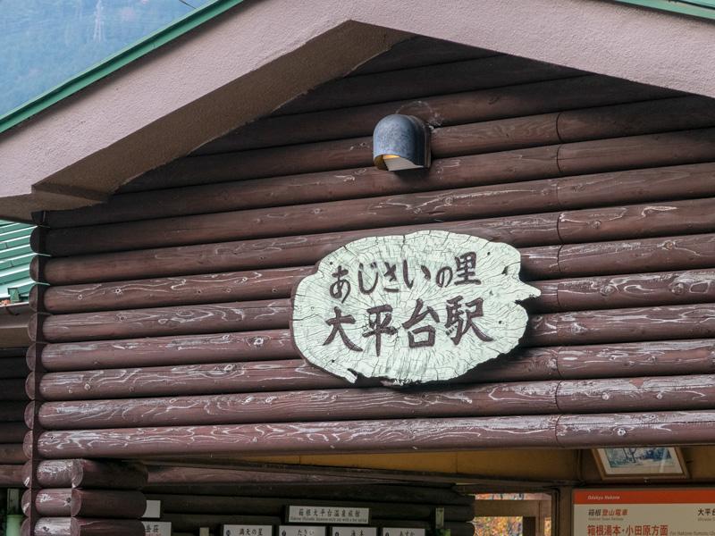 大平台駅の駅舎