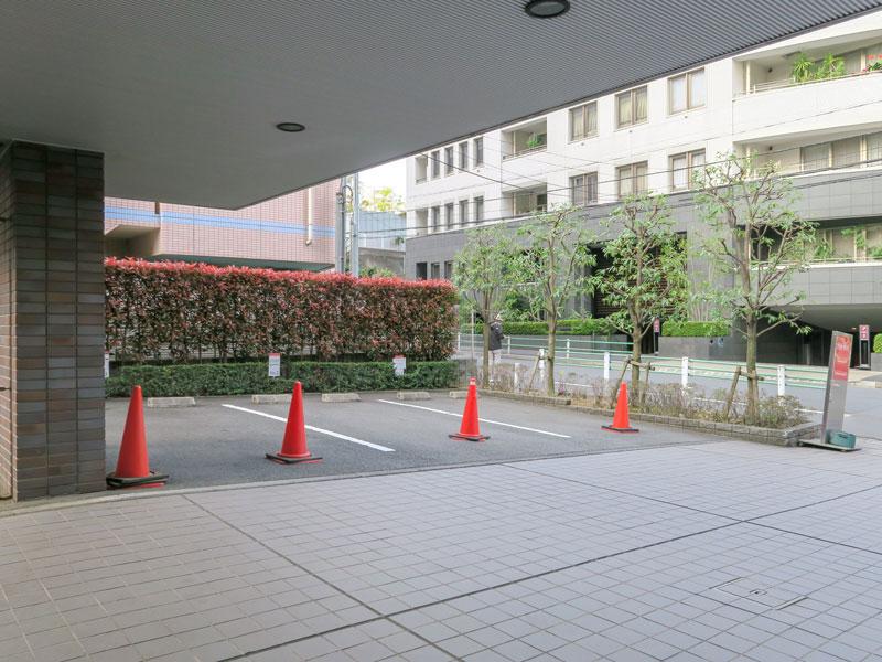 高輪デュープレックスC'sの駐車場の様子